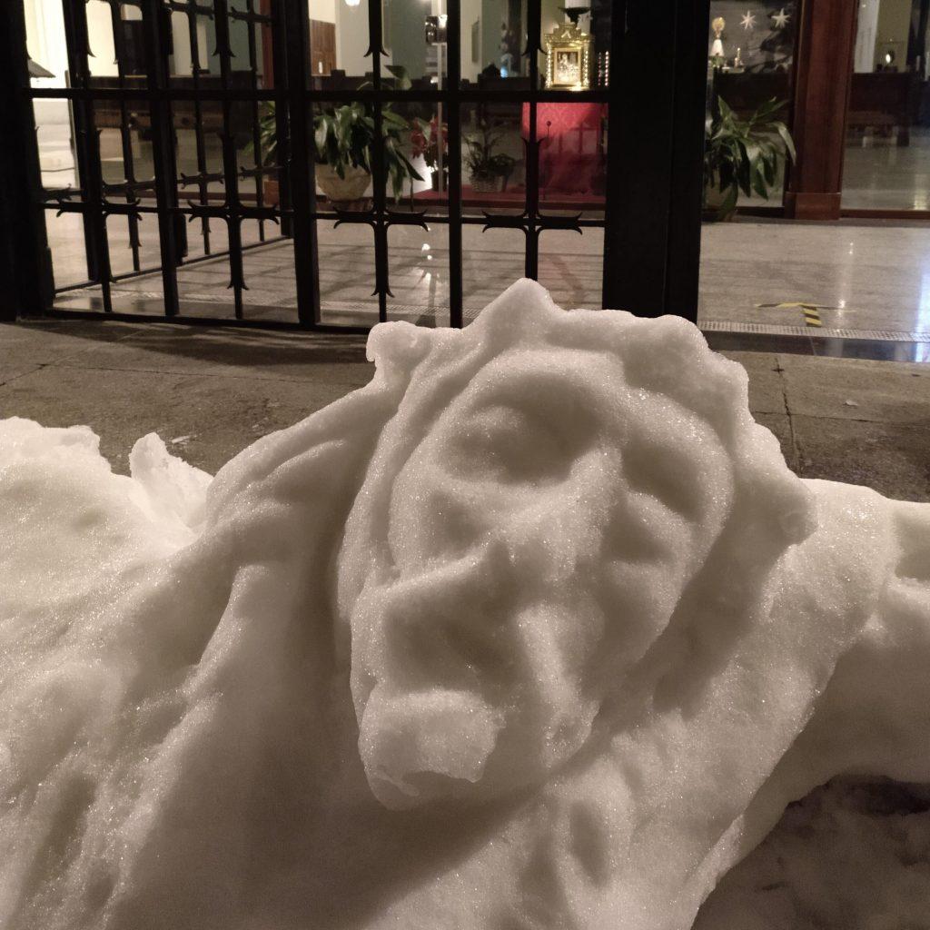 Cristo de nieve